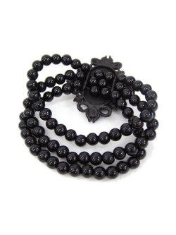 画像2: 【新品】ストーンパールブレス(黒)(bracelet/black)