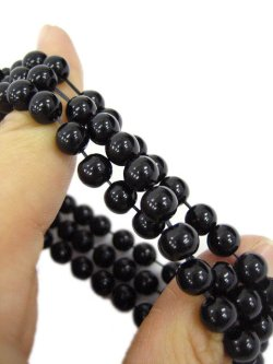 画像3: 【新品】ストーンパールブレス(黒)(bracelet/black)