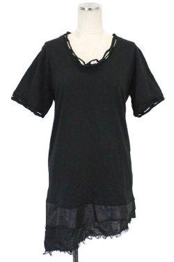 画像1: 【新品】裾ダメージTシャツ(Tshirt) g_tp