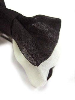 画像2: 【新品】 シフォンリボンバレッタ (ブラック×ホワイト)