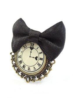 画像1: 【新品】アンティーク 時計リボンリング