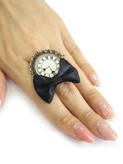 画像5: 【新品】アンティーク 時計リボンリング