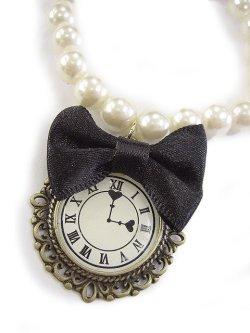 画像2: 【新品】 時計リボンパールブレスレット