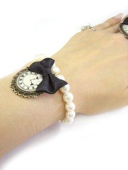 画像5: 【新品】 時計リボンパールブレスレット