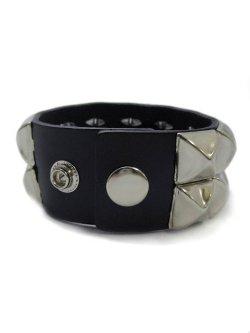 画像2: 【新品】2連スタッズブレス(シルバー) (bracelet)