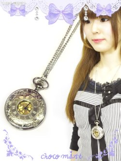 画像1: 【新品】シルバー懐中時計