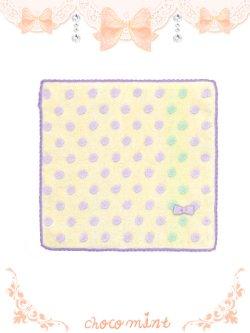 画像1: 【新品】スフレハンドタオル towel (イエロー×パープル yellowXpurple)