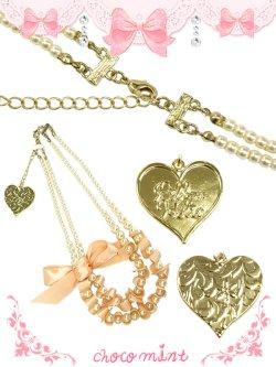 画像2: 【新品】 リボンパールネックレス(ピンク)