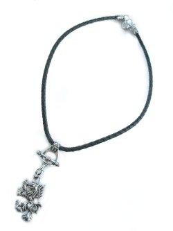 画像2: 【新品】ウルフレザーネックレス(necklace)