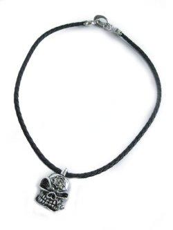 画像2: 【新品】スカルレザーネックレス(necklace)