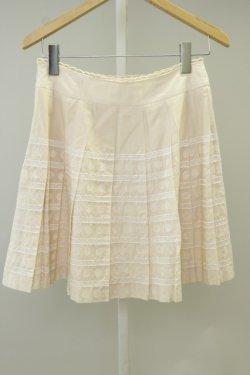 画像2: Jane Marple  / ドット&ボーダー刺繍スカート
