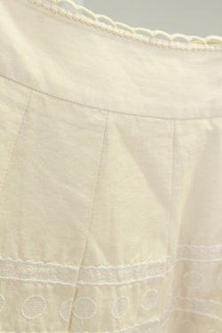 画像4: Jane Marple  / ドット&ボーダー刺繍スカート