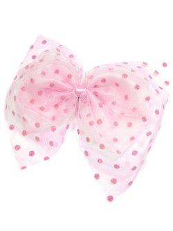 画像1: 【新品】ドットチュール2WAYブローチ&ヘアピン(ピンク/ピンク)brooch/hair pin