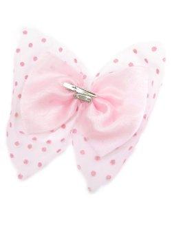 画像2: 【新品】ドットチュール2WAYブローチ&ヘアピン(ピンク/ピンク)brooch/hair pin
