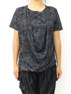 画像2: 【新品】ドレープ半袖カットソー(黒) g_tp
