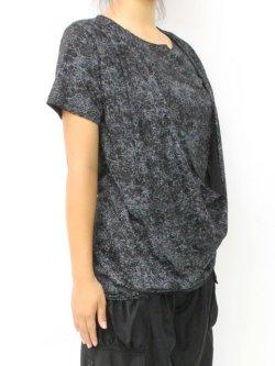 画像1: 【新品】ドレープ半袖カットソー(黒) g_tp