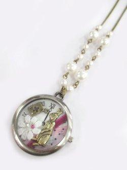 画像1: 【新品】時計の中のWonderLandネックレス(necklace)
