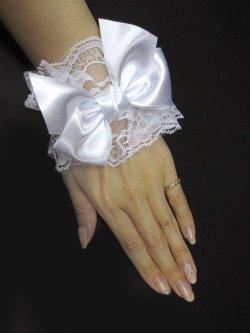 画像2: 【新品】メルヘンリボンお袖とめ(白) ※1つのみ