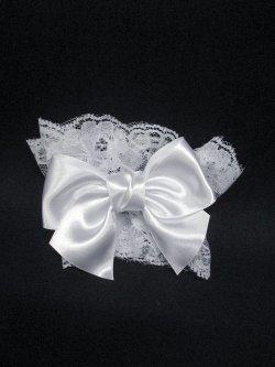 画像1: 【新品】メルヘンリボンお袖とめ(白) ※1つのみ