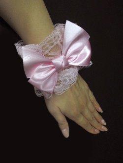画像2: 【新品】メルヘンリボンお袖とめ(ピンク) ※1つのみ