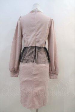 画像2: Ank Rouge  / 胸元開きペプラム風長袖ワンピース