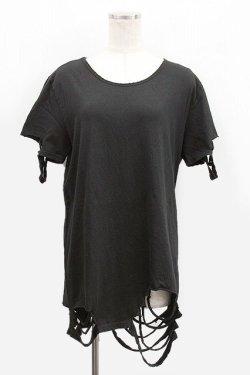 画像1: 【新品】裾クラッシュ半袖カットソー g_tp