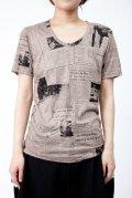 【新品】ニュースペーパーTシャツ(ブラウン)(Tshirt/brown)w1105bounce3 g_tp