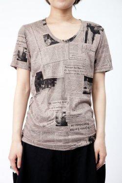 画像1: 【新品】ニュースペーパーTシャツ(ブラウン)(Tshirt/brown)w1105bounce3 g_tp