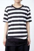 【新品】裾切替ボーダーTシャツ(Tshirt) g_tp