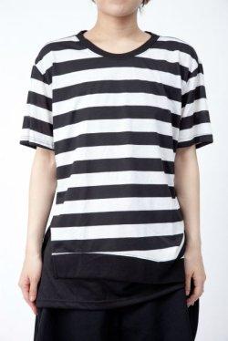 画像1: 【新品】裾切替ボーダーTシャツ(Tshirt) g_tp