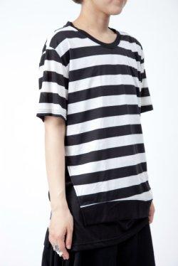 画像2: 【新品】裾切替ボーダーTシャツ(Tshirt) g_tp