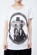 【新品】エレファントTシャツ(白)(Tshirtwhite)