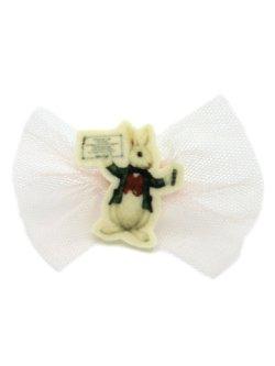 画像1: 【新品】アニマルワッペンリング(ウサギ/ピンク)