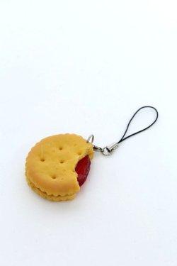 画像1: 【新品】ジャムサンドクッキーストラップ