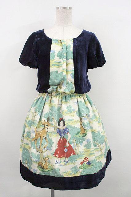 Jane Marple / Snow Whiteベルベットのワンピース0