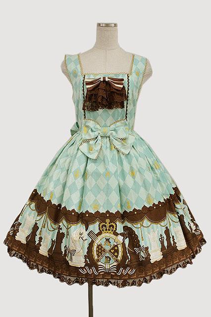 Angelic Pretty / Chess Chocolate ジャボ付ジャンパースカート