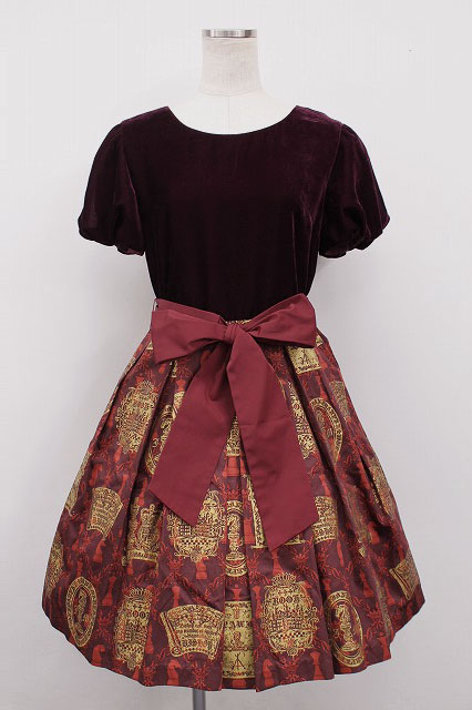 Jane Marple / チェスベルベットのミニドレス