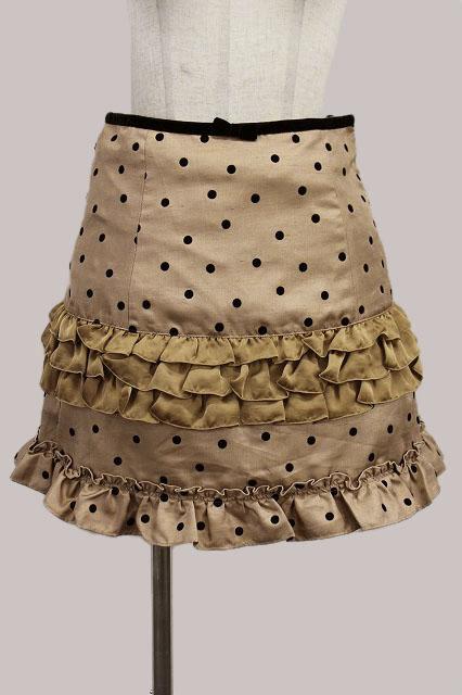 Emily Temple cute / ドットフロッキースカート