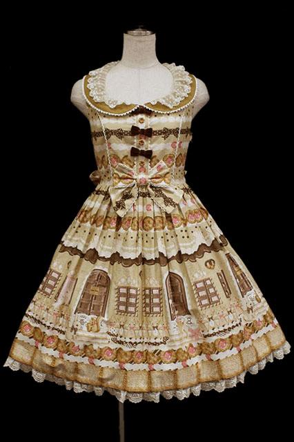 Angelic Pretty / Sweet Cream house襟付きジャンパースカート