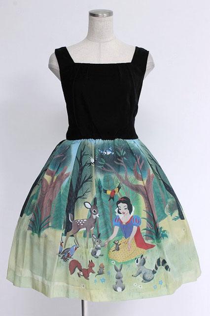 Jane Marple / クラシックSnow Whiteベルベットドレス