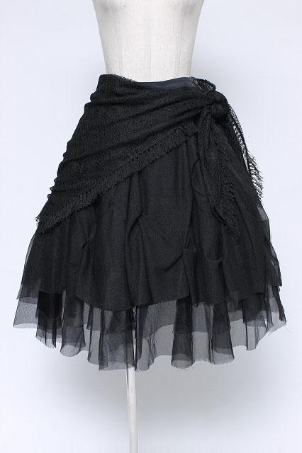 alice auaa / 裾オーガンジーフリルスカート