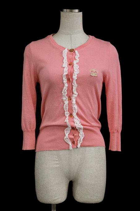 Jane Marple / 王冠刺繍フリルカーディガン