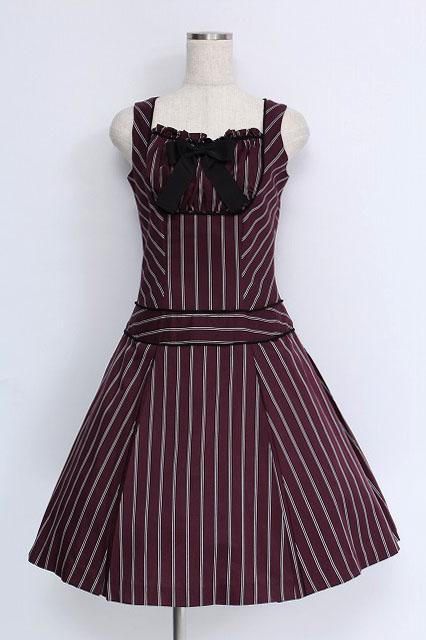 Victorian Maiden / レジメンタルストライプジャンパースカート