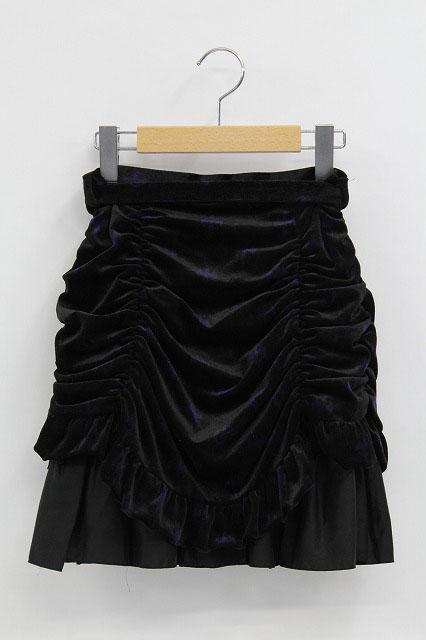 BPN / クロス柄バッスルベロアスカート