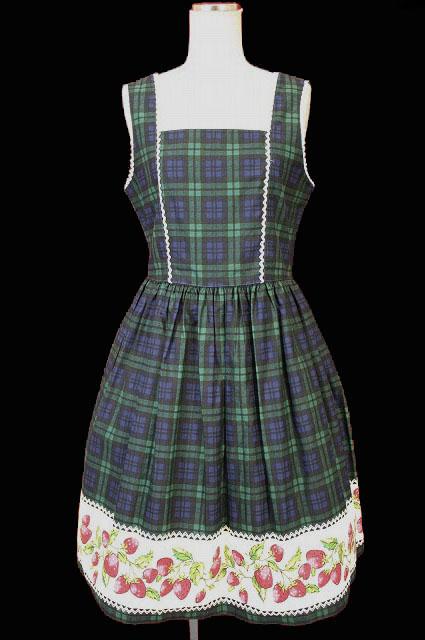 Shirley Temple / タータンストロベリージャンパースカート