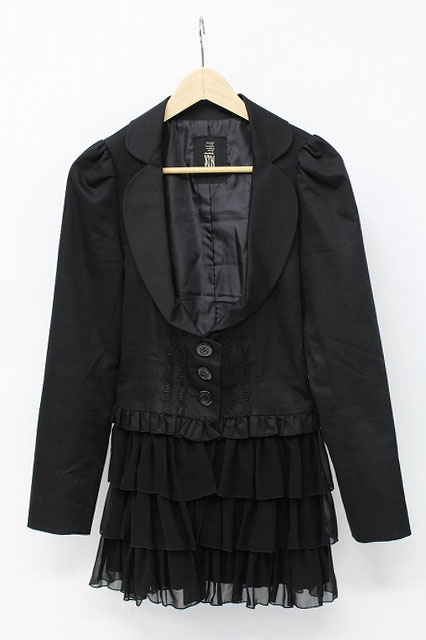 BPN / 裾シフォンフリル付きジャケット