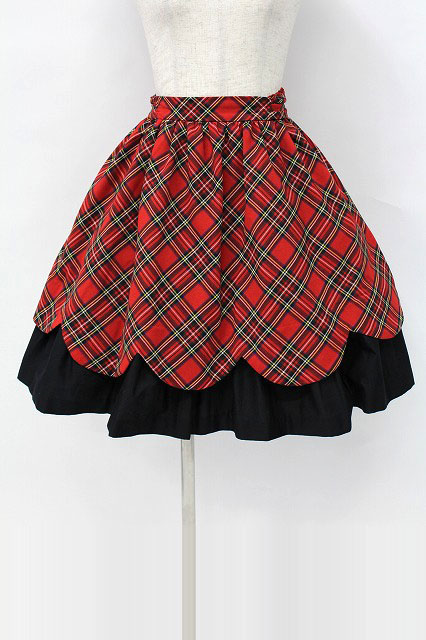 Heart E / タータンチェックスカラップスカート