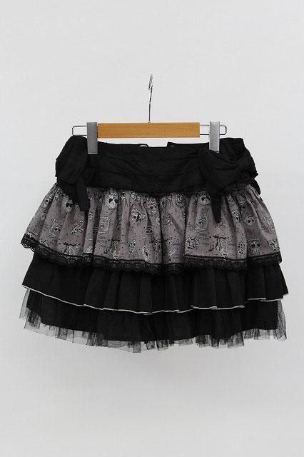 ALGONQUINS / ホラー柄ティアードスカート