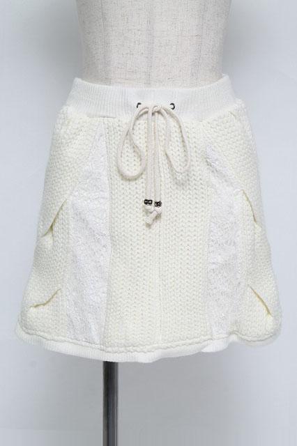 Ozz Croce / レース切替ニットスカート