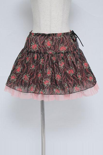 ALGONQUINS / 小花柄シフォンスカート